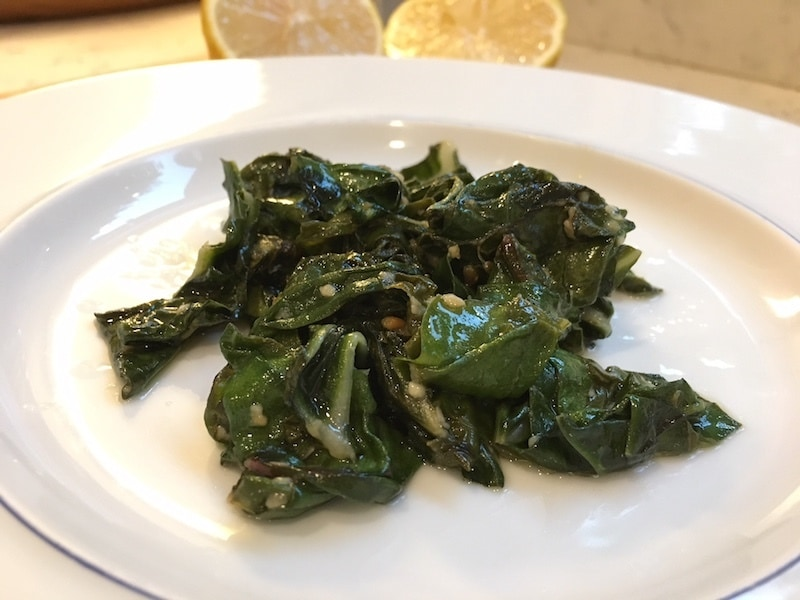Sauteeing is a fast and easy way to prepare chard.