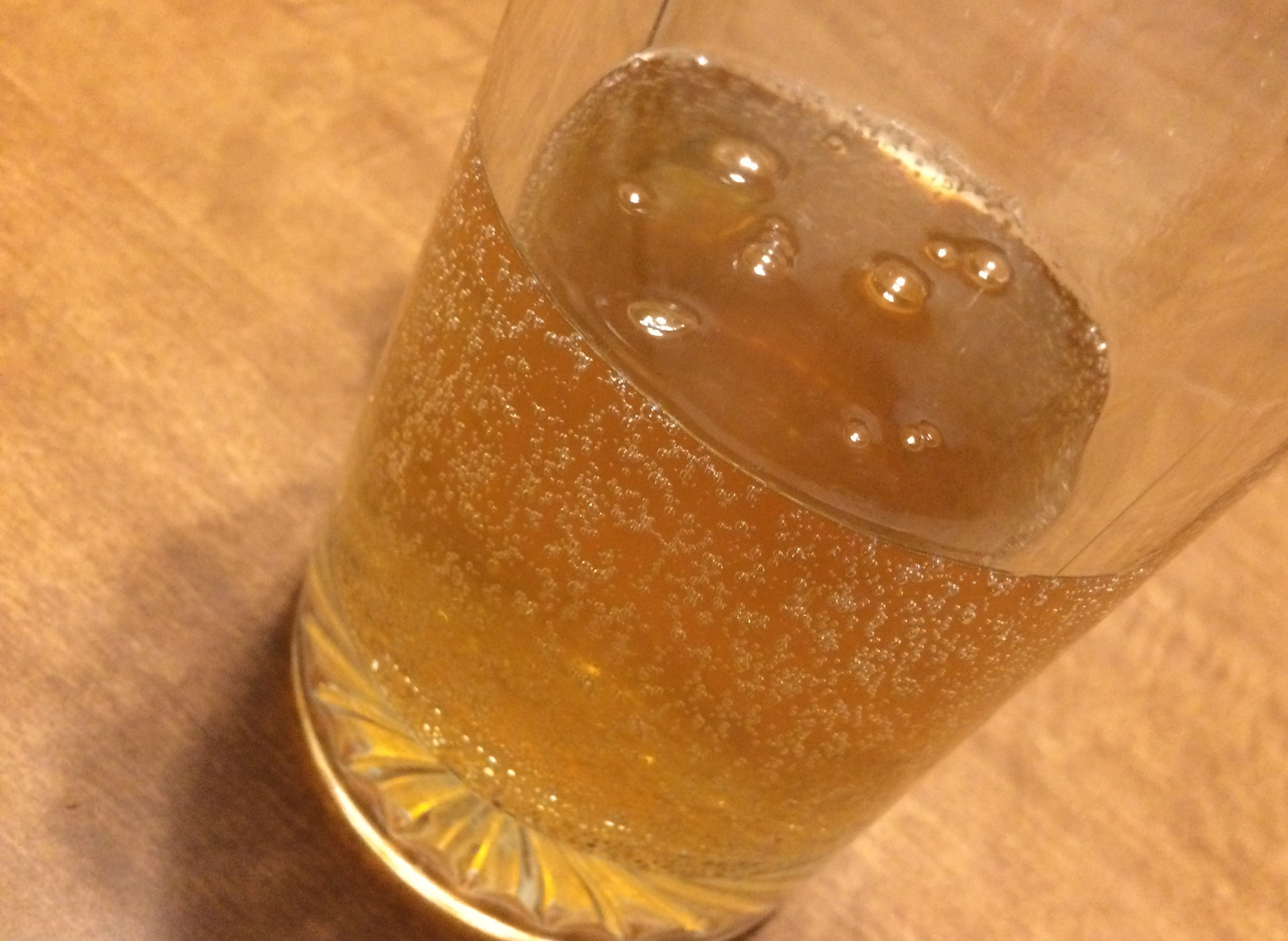 A bubbly glass of fermented gluten-free beer