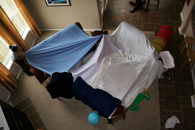 the fort in the living room
