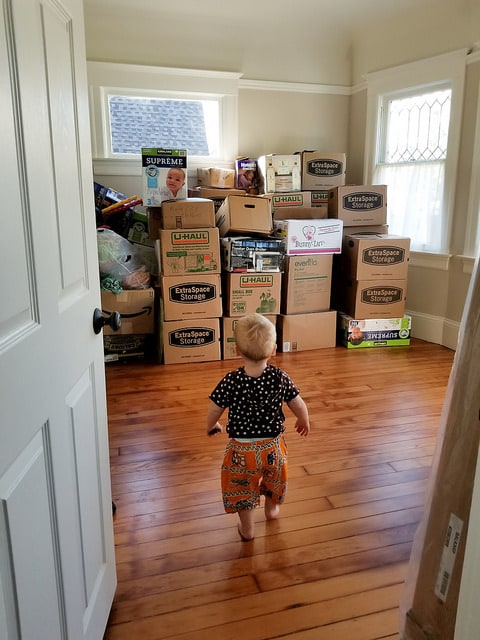 Set aside the unpacking and focus on getting kids settled first.