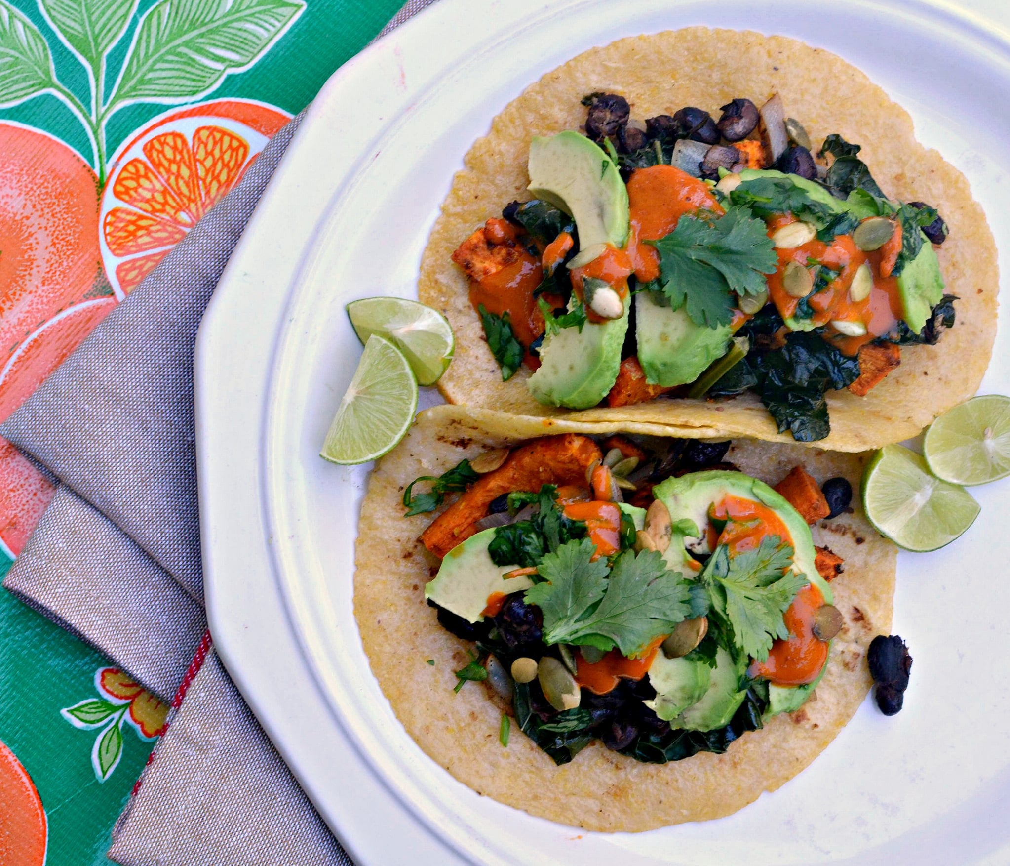 Black bean and sweet potato tacos are perfect for the slow cooker