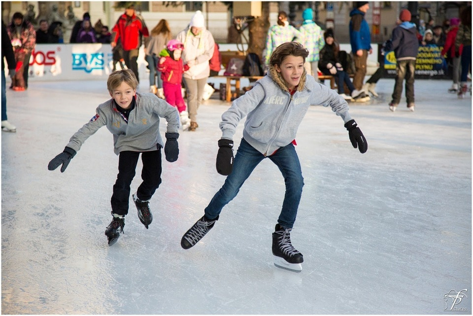 Ice skating is fun winter sport for kids of all ages