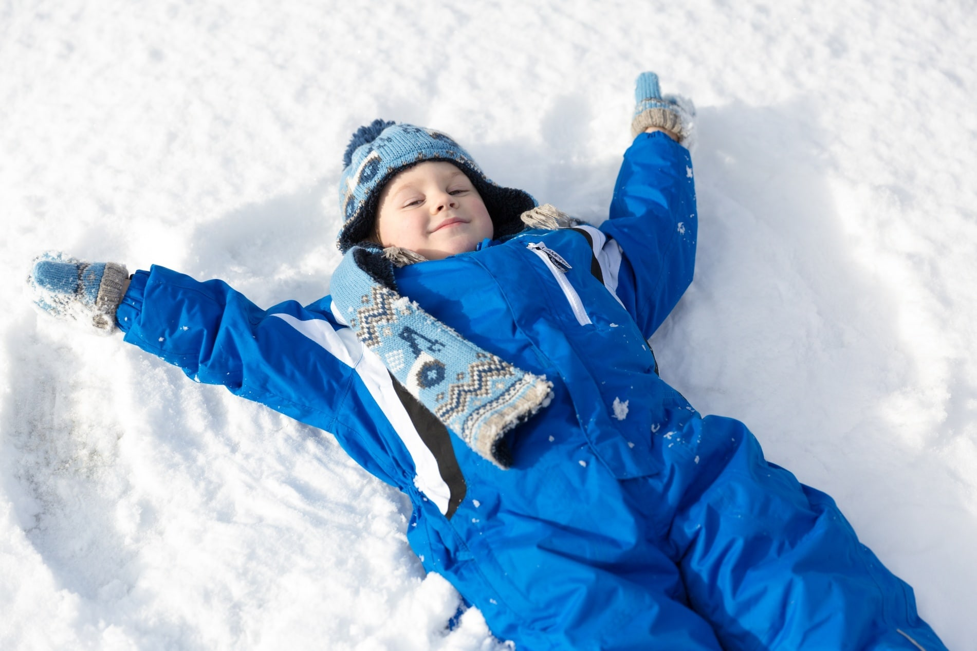 A snow angel competition will complete your winter triathlon