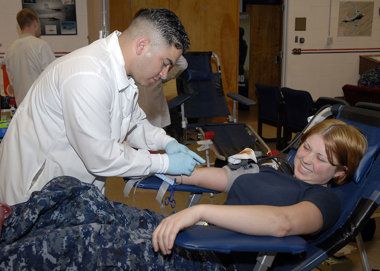 There are many ways to volunteer at a blood driving without actually giving blood