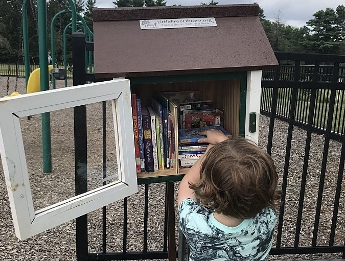 Young readers love Little Free Libraries.