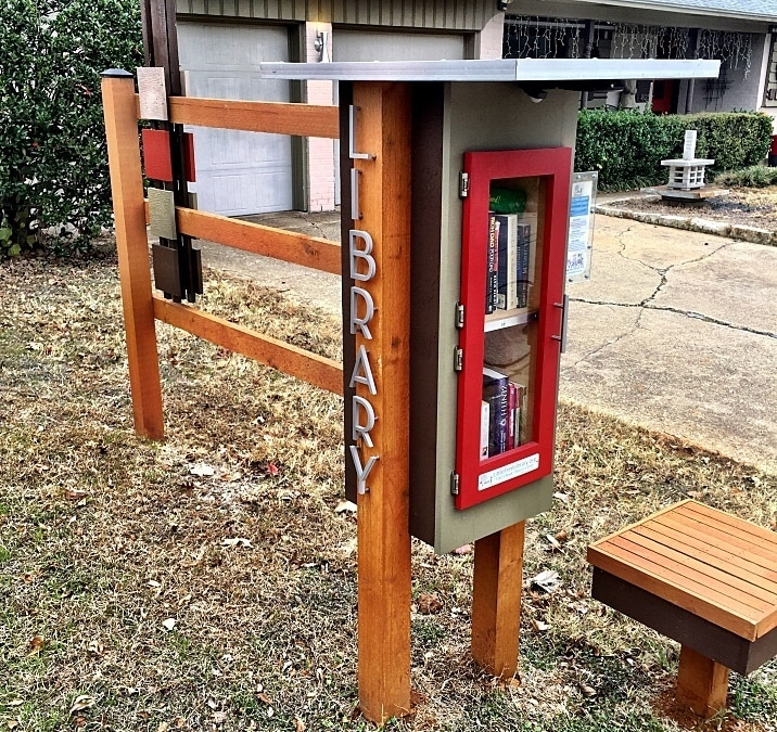 A Little Free Library in a neighborhood.