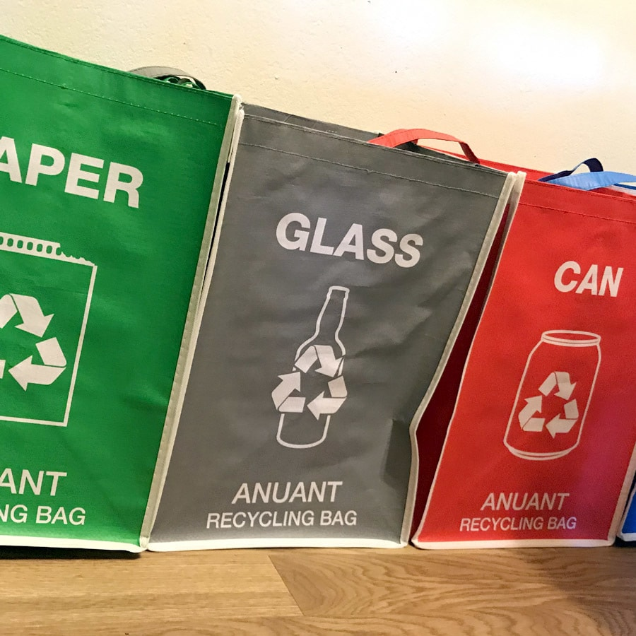 glass recycling container