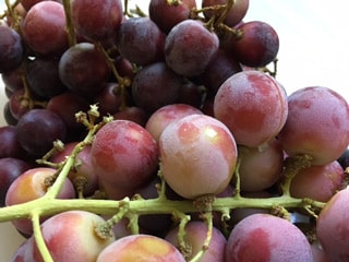 Freezing grapes makes them a cool treat that's also hydrating.