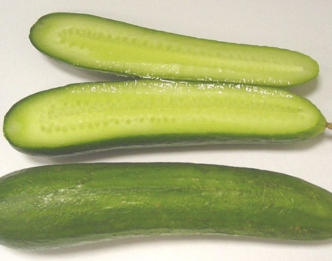 Cucumbers Boats are delicious with peanut butter sandwiches