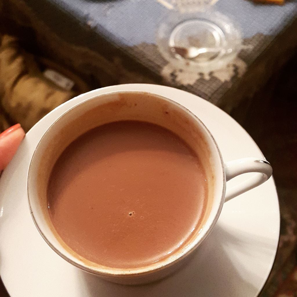 Healthy and delicious vegan hot chocolate