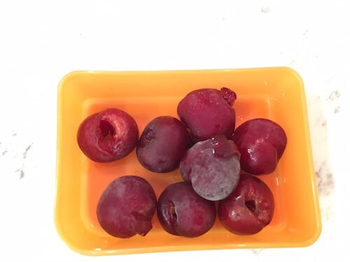 Frozen fruit makes a great refreshing treat for camp snacks.