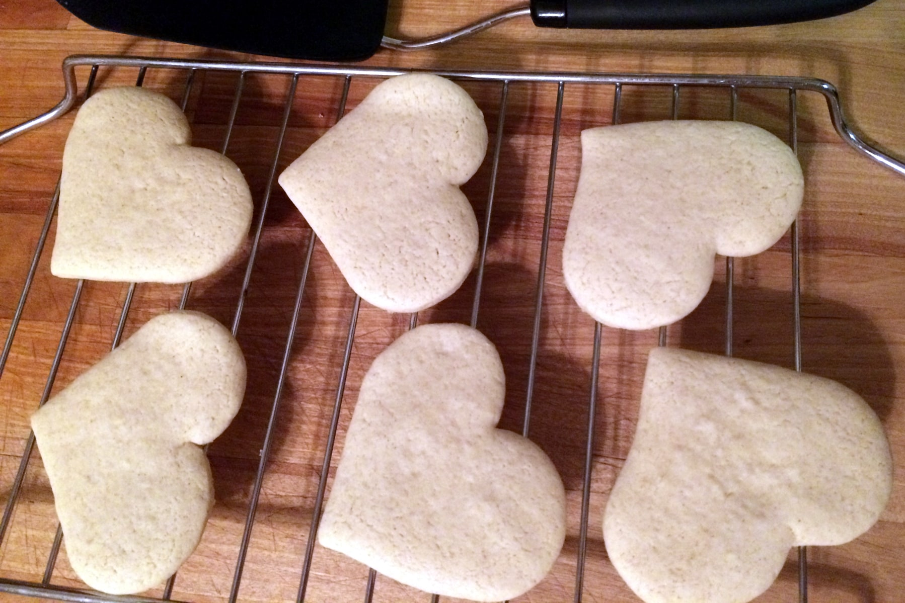 gluten-free sugar cookie cool on a rack