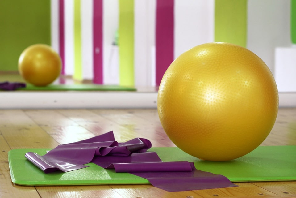 exercise ball, mat