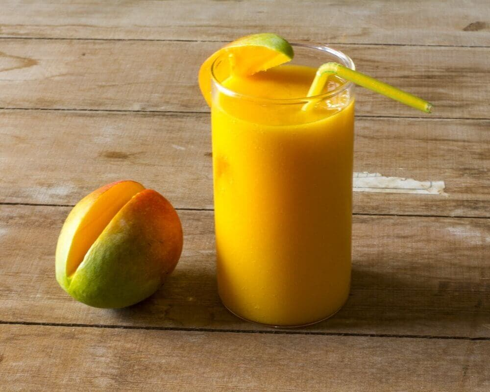 A healthy and delicious mango smoothie