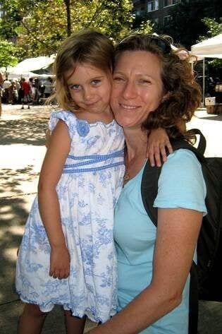 Laurie Berkner and Daughter