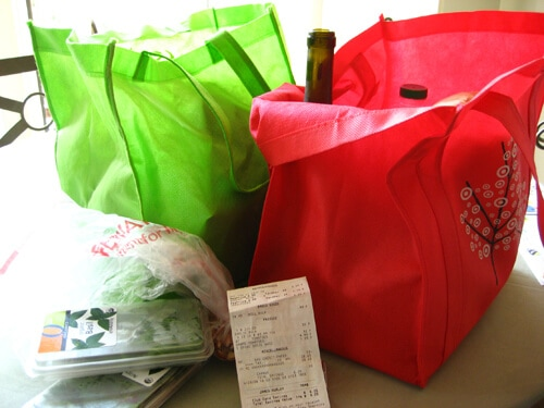 Reusable bags and groceries