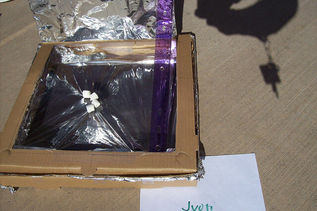 A solar oven is a great project to illustrate how solar energy works.